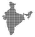 india map halftone icon vector image