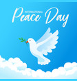 international day peace banner poster vector image vector image