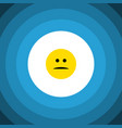 isolated mood flat icon displeased element vector image vector image