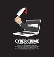 Knife In Hand Cyber Crime Concept vector image vector image