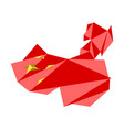 low poly style map of china vector image vector image