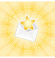 lucky letter vector image vector image