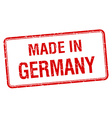 made in Germany red square isolated stamp vector image vector image