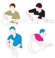 man play guitar vector image vector image