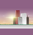 modern city panoramic view vector image vector image