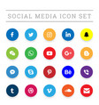 modern social media icon set vector image