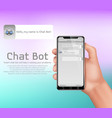 online smart chatbot concept background vector image