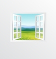 open windows vector image vector image