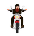 picture of cool biker character riding a vector image