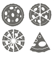 Pizza Icon Isolated vector image vector image