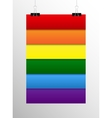 Rainbow LGBT poster on the wall Eps 10 vector image