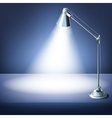 Realistic office table with a desk lamp vector image vector image