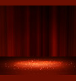 red curtain with a spotlight vector image vector image