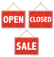 Retail Shop Signs vector image vector image