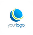 round globe planet logo vector image vector image
