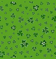 seamless pattern with clover leaves saint vector image