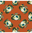 Seamless pattern with photographic cameras vector image