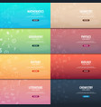 set of banners school subjects back to school vector image