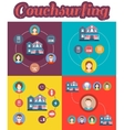 Set of couchsurfing vector image