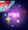 space background cosmos with planets banner vector image vector image