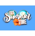 Summer lettering design with sunglasses and vector image vector image
