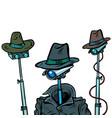 surveillance spy total video surveillance secret vector image vector image