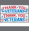 thank you veterans wood signs vector image vector image