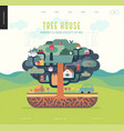 tree house concept vector image vector image