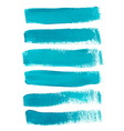 Turquoise ink brush strokes vector image vector image