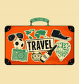 typographical retro grunge travel poster vector image