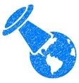 UFO Explores Earth Grainy Texture Icon vector image vector image