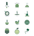 variety ecological food stickers vector image vector image