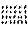 monochrome of gestures to control vector image