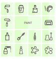14 paint icons vector image vector image
