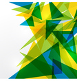 Abstract geometric Brazil flag vector image vector image