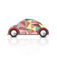 abstract polygonal beetle car vector image vector image