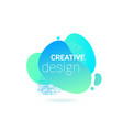abstract shape color liquid fluid gradient vector image vector image