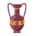 ancient greek vase isolated on white vector image vector image