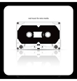 Audio tape cassette isolated on white vector | Price: 1 Credit (USD $1)