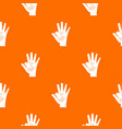 baby and mother hand pattern seamless vector image vector image