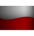 background red stripe wave one grey vector image vector image