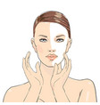 beauty care beautiful girl young vector image vector image