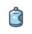 big bottle with clean blue water icon vector image