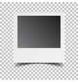 blank retro photo frame on white isolated vector image vector image