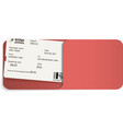 boarding pass inside of envelope vector image vector image