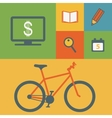Business icons and bicycle vector image vector image