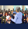 business people in seminar vector image vector image