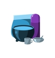 Camping Dishes vector image vector image