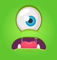 cartoon angry monster face vector image vector image