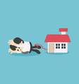 Cartoon Character Business chained on ankle the de vector image vector image
